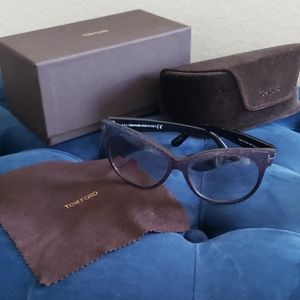 New Tom Ford Saskia Sunglasses Iridescent